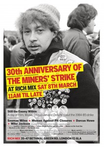Saturday 8th March, 30th Anniversary of the Miners Strike Conference